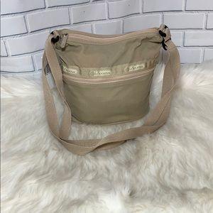 Tan Le Sportsac Mini Bucket Bag